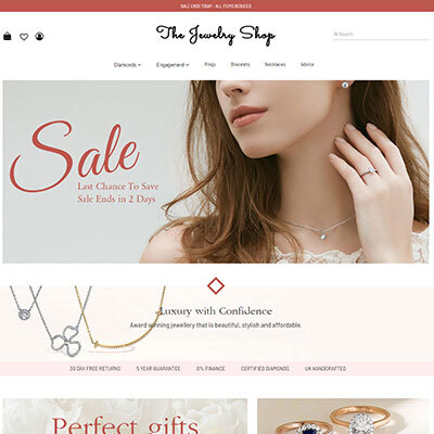 Jewelry eCommerce website design