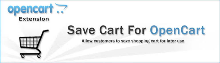 Save shopping cart for later use