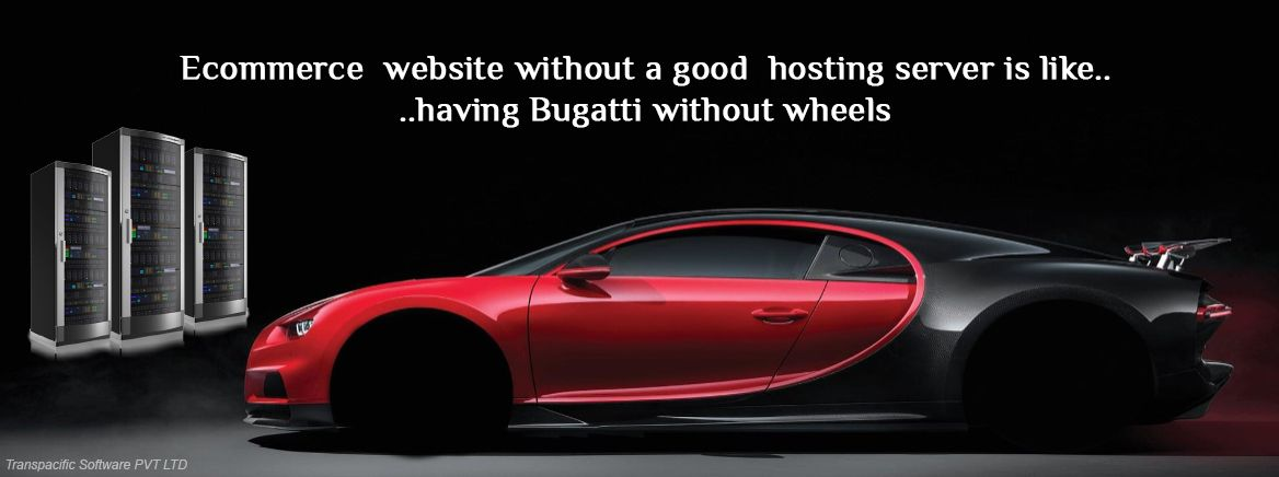 E-commerce website without good hosting server is like having Bugatti without wheel