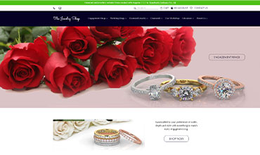 Diamonds and Jewelry website Design and development with