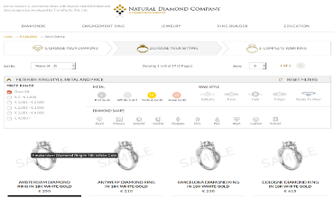 Diamond Facets website demo