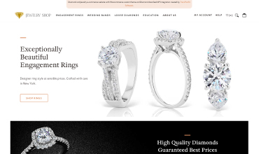 Woocommerce site with Lab Grown diamonds