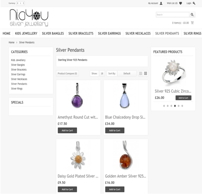 NiaYou Silver product Jewellery