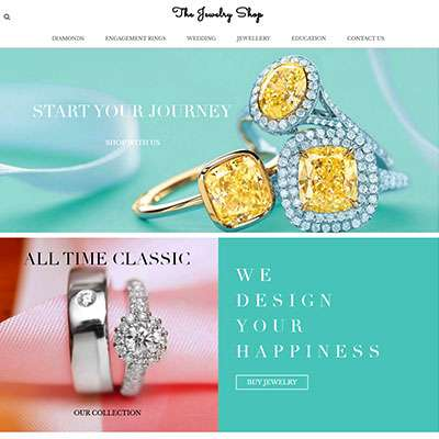 Magento 2.x Diamond & Jewelry ecommerce website